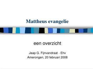 Mattheus evangelie