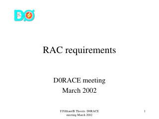 RAC requirements