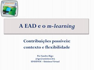 A EAD e o  m-learning