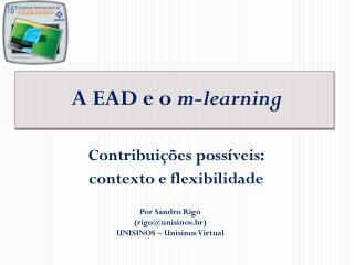 A EAD e o  m-learning