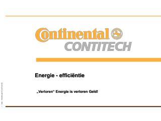 Energie -  efficiëntie