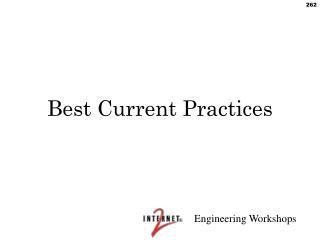 Best Current Practices