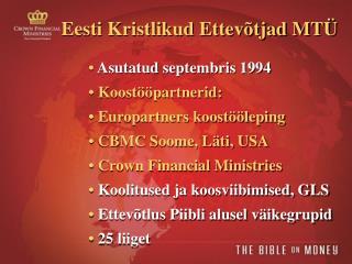 Eesti Kristlikud Ettevõtjad MTÜ