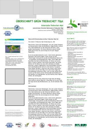ÜBERSCHRIFT GRÜN TREBUCHET 70pt Unterzeile Trebuchet 46pt