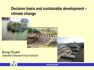 Decision basis and sustainable development – climate change