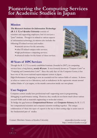 Pioneering the Computing Services for Academic Studies in Japan