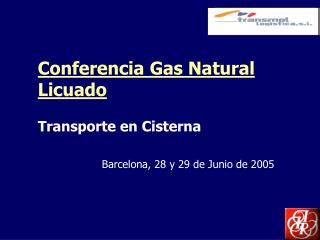 Conferencia Gas Natural Licuado
