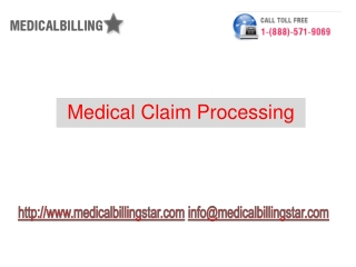 Medical claims processing | medical billing