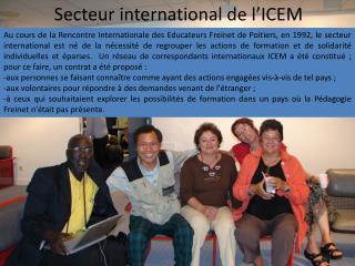 Secteur international de l'ICEM