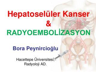 Hepatoselüler Kanser  & RADYOEMBOLİZASYON