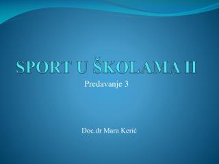 SPORT U  � K OLAMA  II