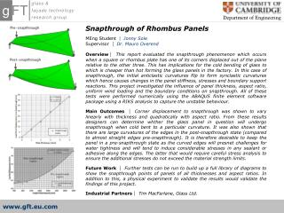 Snapthrough of Rhombus Panels