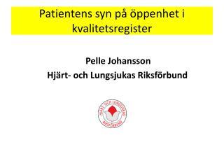 Patientens syn på öppenhet i kvalitetsregister