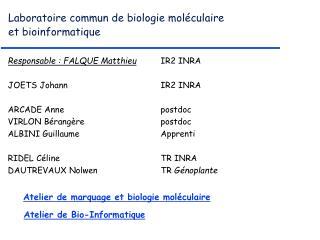 Laboratoire commun de biologie moléculaire et bioinformatique