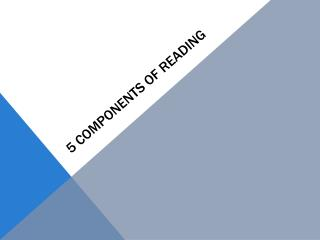 5 Components of Reading
