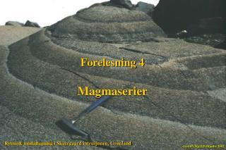 Forelesning 4 Magmaserier