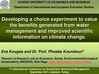 Eva Kougea and Dr. Prof. Phoebe Koundouri 1