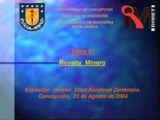 UNIVERSIDAD DE CONCEPCI Ó N FACULTAD DE INGENIER Í A DEPARTAMENTO DE INGENIERIA METAL Ú RGICA