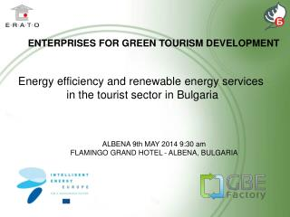 Energy efficiency and renewable energy services  in the tourist sector in Bulgari a