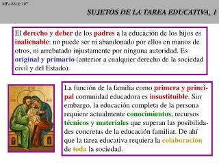 SUJETOS DE LA TAREA EDUCATIVA, 1