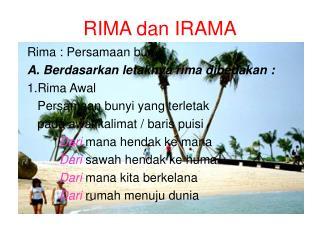 RIMA dan IRAMA