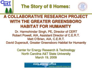 A COLLABORATIVE RESEARCH PROJECT WITH THE GREATER GREENSBORO HABITAT FOR HUMANITY