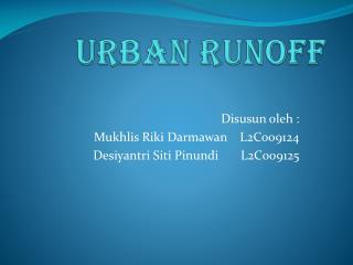 Urban Runoff