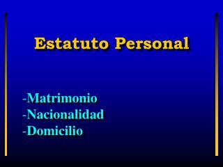 Estatuto Personal