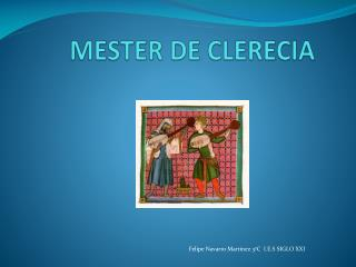 MESTER DE CLERECIA