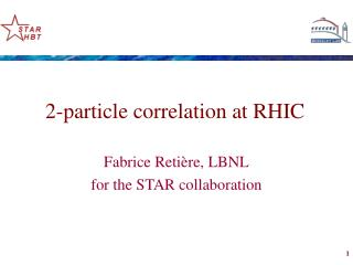 2-particle correlation at RHIC