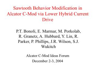 Sawtooth Behavior Modification in Alcator C-Mod via Lower Hybrid Current Drive