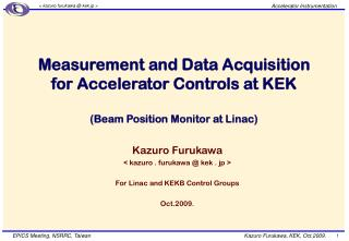 Measurement and Data Acquisition  for Accelerator Controls at KEK (Beam Position Monitor at Linac)