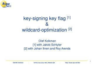 key-signing key flag  [1]  & wildcard-optimization  [2]