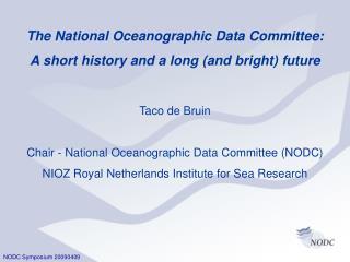 NODC Symposium 20090409