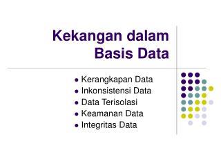 Kekangan dalam Basis Data