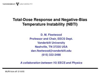 Total-Dose Response and Negative-Bias Temperature Instability (NBTI)