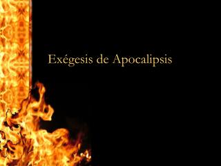 Exégesis de Apocalipsis