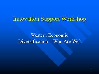 Innovation Support Workshop