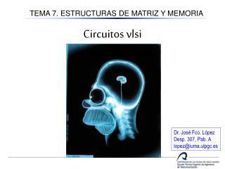TEMA 7. ESTRUCTURAS DE MATRIZ Y MEMORIA