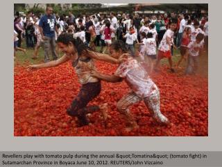 Colombians celebrate Tomatina