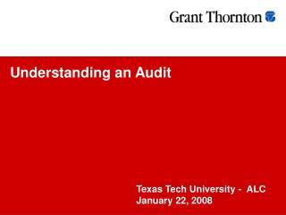 Understanding an Audit