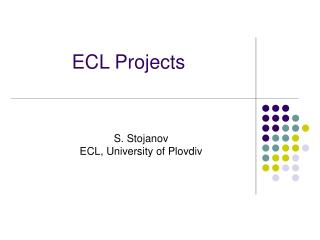 ECL Projects
