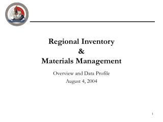 Regional Inventory  & Materials Management