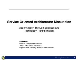 Service Oriented Architecture Discussion