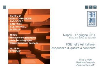 Napoli - 17 giugno 2014 Eremo della Collina dei Camaldoli FSE nelle Asl italiane: