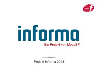 27. November 2013 Projekt Informa 2013