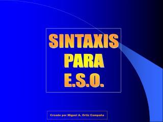 SINTAXIS PARA E.S.O.