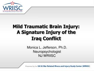 Mild Traumatic Brain Injury:  A Signature Injury of the  Iraq Conflict