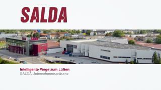Intelligente Wege zum Lüften SALDA  Unternehmenspräsenz