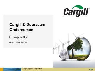 Cargill & Duurzaam Ondernemen